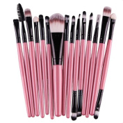 Kwok 15 pcs/Sets Makeup Brushes Tool Eye Shadow Foundation Eyebrow Lip Brush
