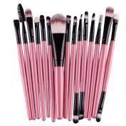 Kwok 15 pcs/Sets Makeup Brushes Tool Eye Shadow Foundation Eyebrow Lip Brush