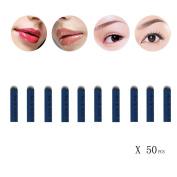 ABCsell 50PC U Shape 14 Needles Microblading Eyebrow Tattoo Permanent Makeup Manual