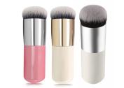 3Pcs 3Colors Flat Liquid Foundation Makeup Brushes Blush Buffer Powder Make up Brushes Beauty BB Cream Kabuki Contour Brush Tool