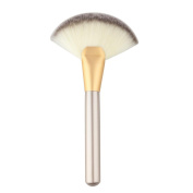 DZT1968 Makeup Large Fan Goat Hair Blush Face Powder Foundation Cosmetic Brush Gold
