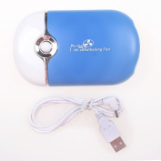 Baisidai Blue USB Mini Fan Air Conditioning Blower for Eyelash Extension