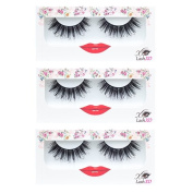 LashXO Lashes- Smoking Hot-3 PK Premium Quality False Eyelashes .  Shu Uemura, MAC, Make Up For Ever, and House of Lashes Fake Eyelashes