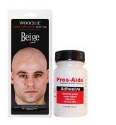 "Cinema Secrets Beige Bald Cap + Pros-Aide ""The Original"" Adhesive 60ml By ADM Tronics - Professional Medical Grade Adhesive Dries Clear"
