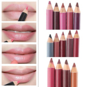 CoKate 12pcs/set Women Professional Lipliner Waterproof Lip Liner Pencil 15CM 12 Colours