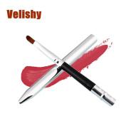 Velishy(TM) 2 PCS Portable Smooth Retractable Lipstick Gloss Lip Brush