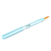 Yimart 1pcs Portable Smooth Retractable Alloy Automatic Makeup Lip Liner Pencil Pen Brush Blue