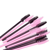 FlyItem 100 Lots 2 Colours Disposable Eyelash Extension Brush Mascara Wands Applicator Womens Cosmetic Makeup Tool