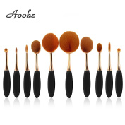 Oval Makeup Brush Set , Aoohe Professional Foundation Contour Concealer Blending Cosmetic Brushes