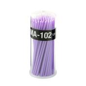 Yimart 100pcs Purple Ultrafine Size 1mm Disposable Mascara Applicator Individual Eyelash Extension Micro Brush