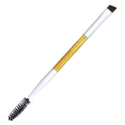 Togirl 1PCS Makeup Tool Bamboo Handle Double Eyebrow Brush+Eyebrow Comb Makeup Brush