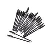 SelfTek 100Pcs Disposable Eyelash Brush Mascara Wand Applicator Brush