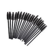Lisli 100Pcs Disposable Eyelash Eye Lash Makeup Brush Mascara Wands Applicator Kits