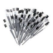 Baisidai 60 PCS 2 in 1 Lash Eyelash Extension Brush Comb