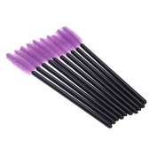BeautyMall 300 Pcs Disposable Eyelash Mascara Brushes Wands Purple