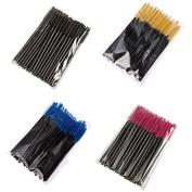 Easy lifestyles 200PCS Disposable Eyelash Curler Mascara Applicator Wand Brush Makeup Tools