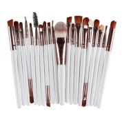 AMarkUp 20 Pcs Pro Makeup Brushes Set Powder Foundation Eyeshadow Eyeliner Lip Cosmetic Clearance Brush