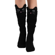 OVERMAL Womens Cat Catoon Socks Long Socks Over Knee High Sock