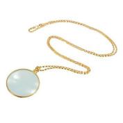 Doinshop Novelty Magnifier Pendant Magnify Glass Reading Décor Monocle Necklace