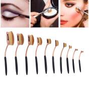 Vishine Makeup Brushes, Pro Foundation 10Pcs/Set Toothbrush Shape,Eyebrow Concealer, Contour Powder Brush,Eye Liner Brushes Kits