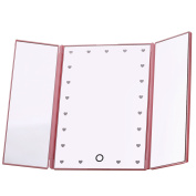 Miss Sweet Led Tri-fold Mirror Table Mirror Travel Mirror for Beauty Makeup 1800cm