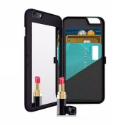 Makeup Mirror Case, Women's Fashion Multi-function Phone Case For iPhone 7 7 Plus with Card Slot Holder ID Case