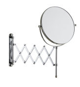 Cavoli 15cm Double-sided Wall Mount Scalable Mirror with 3x Magnification ,Chrome Finish