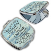 BleuReign(TM) Religious Serenity Prayer Compact Mirror