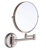 Cavoli 20cm Two-Sided Swivel Wall Mounted Mirror with 10x Magnification,Nickel Finish