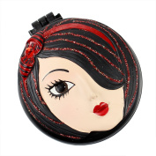 Tina Compact Mirror with Popup Brush