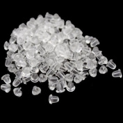1000pcs Clear Earring Rubber Backing for Earrings 4mm Fashion Accessory Jewellery by extendservice
