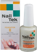 Nailtek Foundation No.2 Ridge-Filling Nail Strengthener Base Coat, 0.5 Fluid Ounce by GEO Marketing Inc LLC