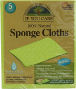 IF YOU CARE 100% Natural Sponge Cloths, 5 Count by IF YOU CARE