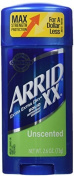 Arrid XX Antiperspirant/Deodorant Solid, Unscented, 80ml Sticks (Pack of 6) by Arrid