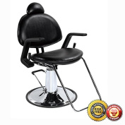 New All Purpose Salon Hydraulic Recline Barber Chair Shampoo 87B Black