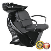 New Heavy Duty Hydraulic Recline Barber Chair Salon Beauty Shampoo 8W Burgundy