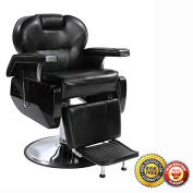 New Heavy Duty Hydraulic Recline Barber Chair Salon Beauty Shampoo 8W Black