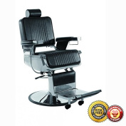 New Stainless Steel HD Hydraulic Recline Barber Chair Salon Beauty Shampoo