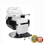 New Heavy Duty Hydraulic Recline Barber Chair Salon Beauty Shampoo 8W White