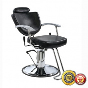New Fashion All Purpose Hydraulic Recline Barber Salon Chair Shampoo 67W Black