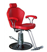 Shengyu Red Hydraulic Reclining Barber Chair Salon Shampoo Beauty Spa Equipment
