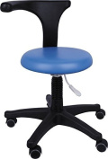 Moredental New Hot Sale Medical Office Stools Assistant's Stools Adjustable Mobile Chair PU (Medium Blue) by Moredental