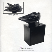 CERAMIC Beauty Salon Backwash Shampoo Bowl Salon Sink with Shampoo Cabinet TLC-CTILTFC