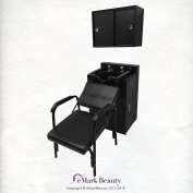Square ABS Plastic Shampoo Bowl Floor & Towel Cabinet Package w/ Chair TLC-B11-FC-TC-216