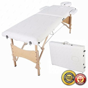 New Fold Portable Massage Table Facial SPA Beauty Bed Tattoo White W/Free Carry