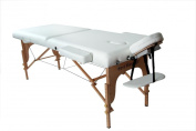 New BestMassage White 200cm L 7.6cm Pad Portable Massage Table Facial Bed Spa Chair