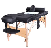 Black Portable Massage Table Facial Spa Bed W/sheet Cradle Cover 2 Bolster Hanger by BestMassage