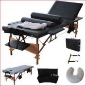 New Fold Massage Table Portable Facial Bed 210cm L 3 W/Sheet+Cradle Cover+2 Bolster, .