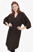 Ladybird Line Size XL Fits up to 2XL Kimono Robe , Bleach Resistant Ideal for clients