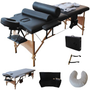 Goplus 210cm l Massage Table Portable Facial SPA Bed W/sheet+cradle Cover+2 Pillows+hanger